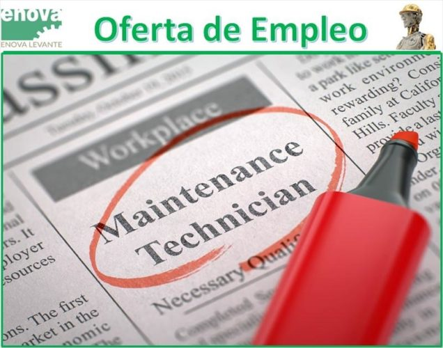 oferta de empleo mantenimiento